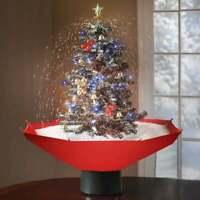 Sapin de Noël enneigé avec LEDs et chants de Noël, Sapin artificiel décoratif