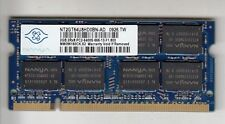 NANYA NT2GT64U8HD0BN-AD 2GB DDR2 SODIMM MEMORY MODULE PC2-6400 800MHZ - NEW!