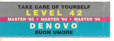 STICKER JUKE BOX - LEVEL 42 - TAKE CARE OF YOURSELF - DENOVO - BUON UMORE