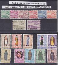 HERRICKSTAMP IRAQ Sc.# C1-8 1949 Air mail 2 sets  Complete MLH