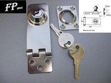 Fermeture à Charnière 104mm Pour Coffre inox Avec clée