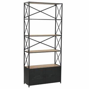 4 Shelves Bookshelf Cabinet Industrial Style Bookcase Display Shelf Organizer