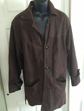 The River Leather Company London BROWN LEATHER COAT JACKET MENS SMALL England