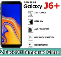 2 PACK GORILLA TEMPERED GLASS FILM SCREEN PROTECTOR FOR SAMSUNG GALAXY J6 PLUS