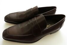 SALVATORE FERRAGAMO Brown Leather Shoes Penny Loafers Size 12 US 46 Euro 11 UK