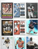LOT OF 200 BEARS FOOTBALL CARDS WITH TRUBISKY,URLACHER,SAYERS,PAYTON,BUTKUS