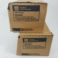 lot 2 Katun Toner Toner Cartridge 023615BLACK SharpPrinter/Copier NIBDamaged Box