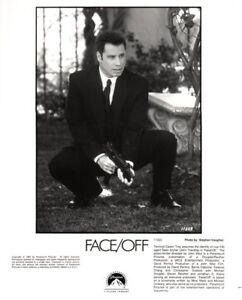 Set of 2 John Travolta Press Kit Photos - Face/Off, Swordfish