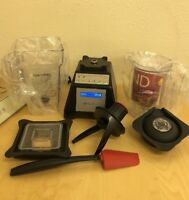 Blendtec Total Blender Black W/ Twister & Fourside Jar, Lids, Warranty