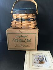 Longaberger Coll Cl. 2003 Renewal Bskt Combo- in box- Excell Cond. Free Shipping
