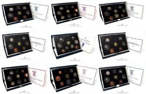 ROYAL MINT PROOF SET 1983 TO 1999 BIRTHDAY PRESENT COIN YEAR SETS CASED Choose