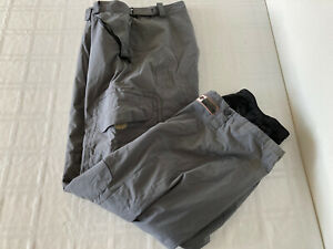 Body Glove Mens XL Nylon Gray Ski Snow Pants TS0