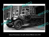 OLD LARGE HISTORIC PHOTO OF ALTOONA PENNSYLVANIA THE PRR FIRE TRUCK c1930