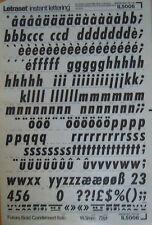 Letraset frote sobre transferencias Futura Bold condensada cursiva 72 pinta 18 mm (#IL5006) utilizado