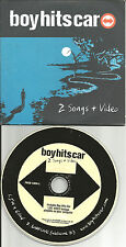 BOY HITS CAR 2 Songs & RARE LIVE VIDEO FOOTAGE PROMO DJ CD Single boyhitscar