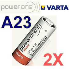 Lot de 2 piles A23 12 Volts POWER ONE by VARTA  -LR23A GP23A V23GA MN21 -BULK-