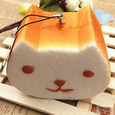 10CM Jumbo Squishy Kapibarasan Toast Slow Rising Bread Cellphone Strap US Stock$