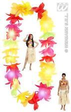 chaîne hawaïenne (Hawaii) Multicolore Collier de fleurs,Leis avec la lumière