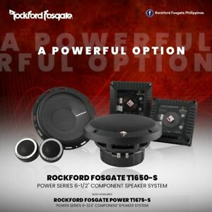 "ROCKFORD FOSGATE POWER T1650-S 6.5"" COMPONENT SPEAKERS TWEETERS CROSSOVERS NEW"