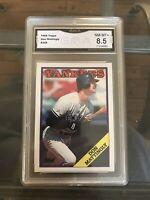 Don Mattingly 1988 Topps #300 Graded GMA 8.5 Near Mint-mint+ New York Yankees