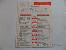 FICHE TECHNIQUE DE RTA CITROEN DS BREAK 21 ET 19A 1966 N°245 09/1966         G12