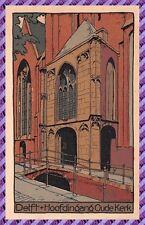 Carte Postale DELFT - Hoofdingang Oude Kerk