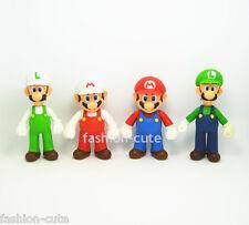 4 pcs Super Mario Brothers Mario Luigi Action Figures figurines 5 inch Nintendo