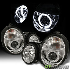 1996-1999 Mercedes W210 E-Class Dual Halo Projector Headlights Lamps Left+Right