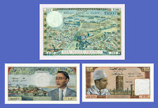 MAROC - Lots of 3 notes - 10...10000 Francs - Reproductions