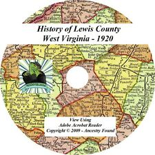 1920 - LEWIS County West Virginia WV - History Genealogy Families Books - CD DVD