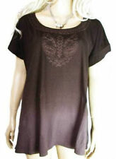 Cotton Short Sleeve Scoop Neck Tops & Shirts for Women