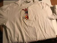 Disney Store Vintage White Long Sleeve Shirt Pooh & Friends Size Large