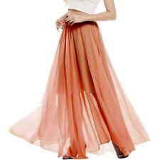 Women's Fashion Chiffon  High-waist Summer Long Maxi Skirt Dress #84