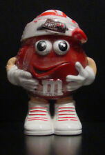 M&M'S Red Mini's Candy Dispenser with Striped Stocking Hat - BNIP