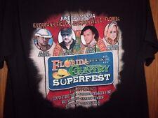 2014 Fl country superfest Jacksonville FL black M t shirt jason aldean