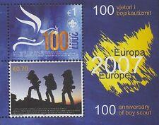 EUROPA CEPT 2007 PFADFINDER - KOSOVO BLOCK 6 - POSTFRISCH ** - BOY SCOUTS