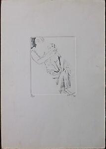 BRUNO SAETTI acquaforte Madre con Fanciullo 50x35 firmata numerata del 1976