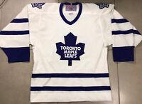 VTG 90s Men's Toronto Maple Leafs CCM Jersey Size M Medium White NHL Vintage