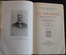 Rousseau, Recherches bibliographiques sur les oeuvres de, 1925