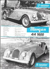 """Morgan 4/4 1600 2 Y 4 Sillones Y Plus 8 Ventas """"Folleto"""" / Hoja Años 70's"""