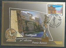 1999 ITALIA CARTOLINA SPECIALE GALLIPOLI PREMIO BAROCCO - ED