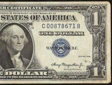 1935 $1 EXPERIMENTAL C-B BLOCK SILVER CERTIFICATE DOLLAR BILL NOTE MONEY Fr 1607