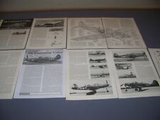 VINTAGE..BELL P-39 D/N AIRACOBRA...STORY/3-VIEWS/CUTAWAY/SPECS...RARE! (160E)
