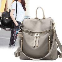 Convertible Rucksack Daypack Purse Shoulder Bag Water Resistant Backpack Hobo N1