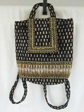 "Vera Bradley ""Zebras"" Drawstring Mimi Backpack - Retired"