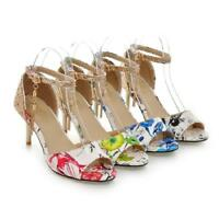 Womens Sexy Stilettos Heels Open Toe Ankle Strap Party Sandals Shoes Size 12 13;