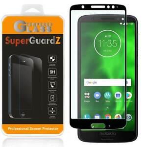 2X SuperGuardZ FULL COVER Tempered Glass Screen Protector For Motorola Moto G6