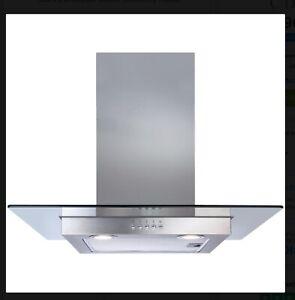 CDA ECN62SS 60cm Stainless Steel Flat Glass Chimney Cooker Hood