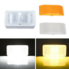 12V Camper Trailer RV LED Light On Off Clear / Amber Lens Porch Ceiling Exterior
