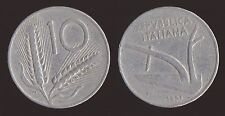10 LIRE 1951 SPIGHE E ARATRO - ITALIA